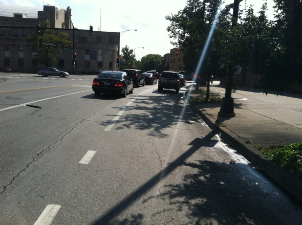 09- Southbound- North Ave- End of Bike Lane 2