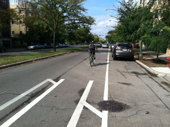 23- Northbound- End of the bike lane approaching Palmer 2